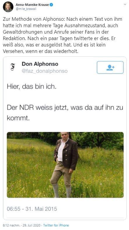 Tweet über Don Alphonso
