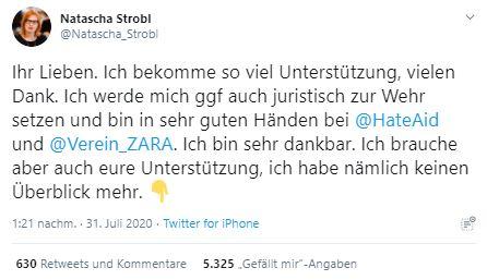 Tweet von Natascha Strobl