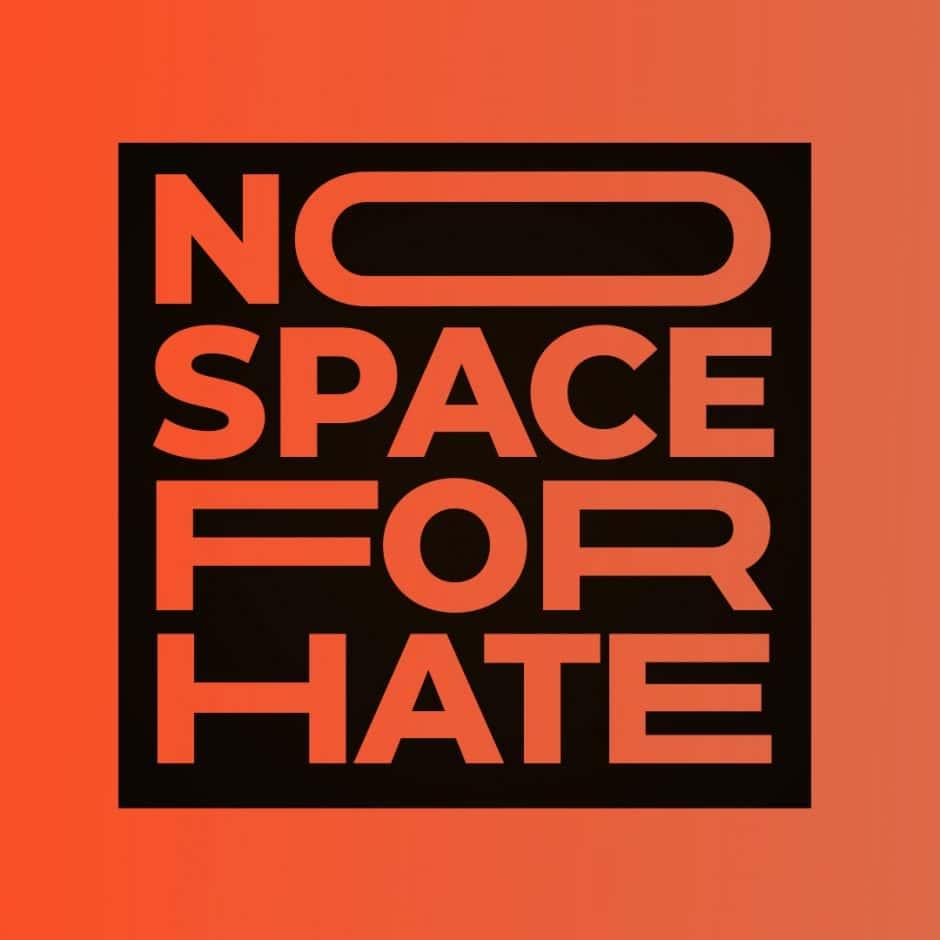Das #NoSpaceForHate Logo der Petition