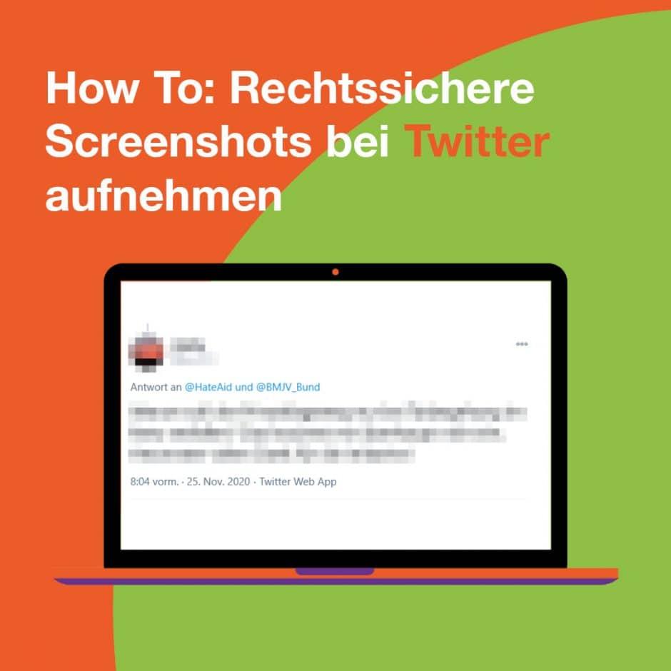 Bildschirm mit zensiertem Kommentar auf Twitter und How to: Rechtssichere Screenshots bei Twitter aufnehmen