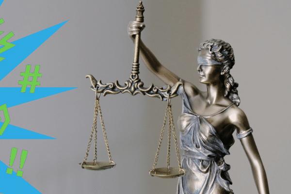 Justicia mit grafischer Darstellung von Volksverhetzung